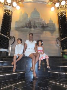 With my kids on MSC Divina
