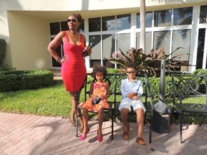 With my babies at Holiday Inn long beach