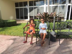 Amani and Malaika at Holiday Inn hotel long beach, Miami