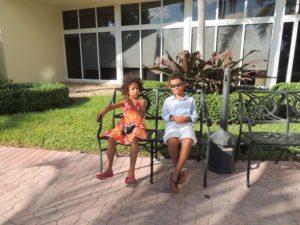 Amani and Malaika at Holiday Inn hotel long beach, Miami