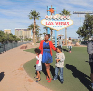 With my kids in Vegas
