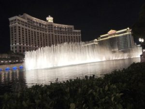 The view from outside Bellagio fountain
