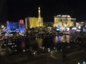 The view from our room, Las Vegas by night