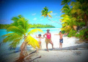 With my babies in paradise