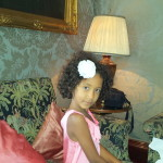 Malaika waiting for afternoon tea