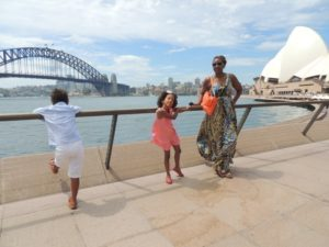 With my babies at Circular quay Sydney