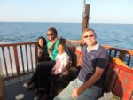On Sunset Dhow with my family