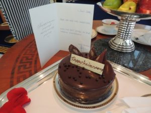 Thanks to Burj Al Arab for the cake, was very yummy